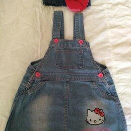Платья и сарафаны - джинсовый сарафан для девочки, 0