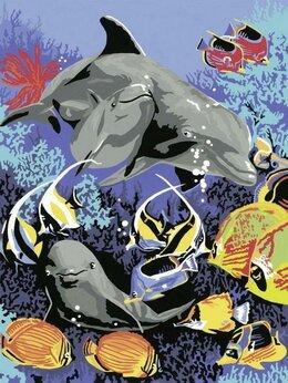"""Пазлы - Раскраска """" Подводный мир """" 18 красок., 0"""