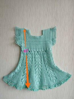 Платья и сарафаны - Ажурное вязаное платье девочке,балетки и повязка…, 0