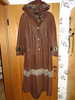 Пальто - Пальто женское кожаное 50-54, Италия, 0