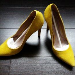 Туфли - Туфли женские на шпильке замшевые желтые р. 37, 0