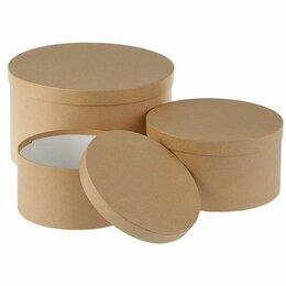 Корзины, коробки и контейнеры - Коробка крафт круглая 3, 0