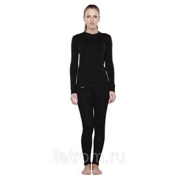 Футболки и топы - Tramp футболка с длинным рукавом женская Outdoor Walk (черный) / XS, 0