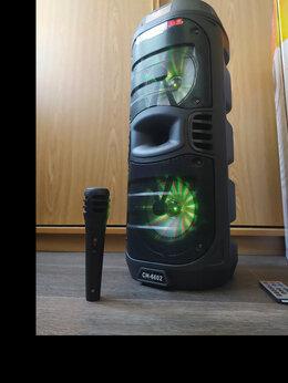 Портативная акустика - Портативная колонка CH 6202 + микрофон, 0