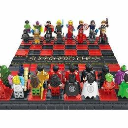 Настольные игры - Коллекционные Шахматы-конструктор Супергерои, 0
