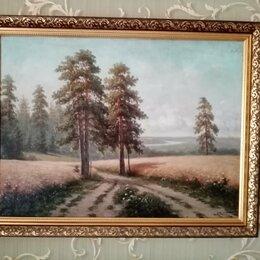 Картины, постеры, гобелены, панно - Картина маслом 50 годы пейзаж, 0
