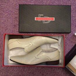 Туфли - 43 размер кожаные туфли Francesco Donni. Новые, 0