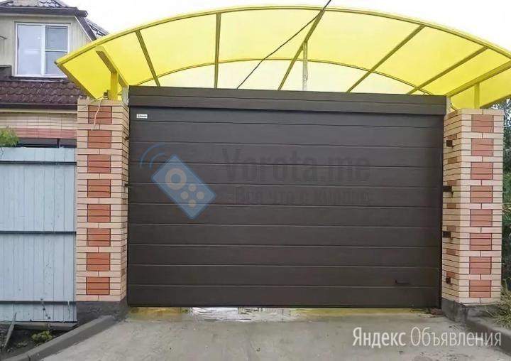 Секционные ворота коричневого цвета для навеса по цене 40750₽ - Заборы, ворота и элементы, фото 0