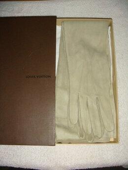 Перчатки и варежки - Перчатки женские Louis Vuitton р.8 из кожи…, 0