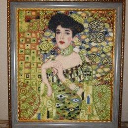 Картины, постеры, гобелены, панно - Г. Климт Портрет Адели Блох-Бауэр. Вышивка, 0