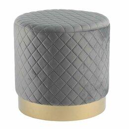 Пуфики - Пуфик мягкий круглый 40 см серый ESF, 0