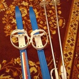 Беговые лыжи - Детские лыжи с палками, 0