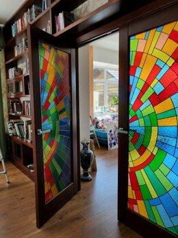 Дизайн, изготовление и реставрация товаров - Витраж для двери на заказ, 0
