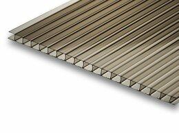 Поликарбонат - Сотовый поликарбонат бронза 6000х2100х8мм, 0