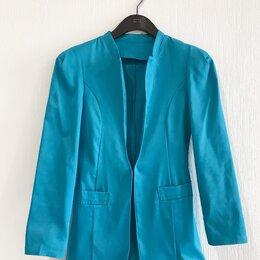 Жакеты - Жакет пиджак голубой , 0