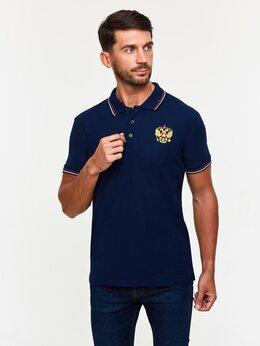 Футболки и майки - Мужские футболки - поло с гербом России синие…, 0