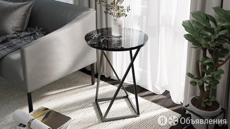 Стол со стеклянной поверхностью ДП 1-03-05 (журнальный) по цене 4499₽ - Столы и столики, фото 0