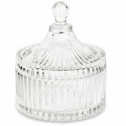Аксессуары - Сахарница стеклянная с крышкой 270 мл, 0