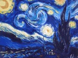 """Картины, постеры, гобелены, панно - Картина """"Звездная ночь"""" и сумка с принтом, 0"""