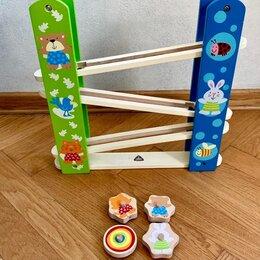 Развивающие игрушки - Деревянная детская игрушка «Гонки» ELC, 0