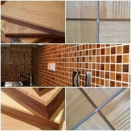 Мозаика - Фартук для кухни из деревянной плитки, 0
