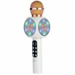 Микрофоны - Светящийся караоке-микрофон WS 1816 Белый, 0