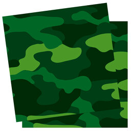 Концерт - F 33см X 33см Салфетки Милитари 12шт, 0