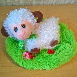 Мягкие игрушки - Овечка на травке с мешочком на молнии оочень мягкая! НОВАЯ., 0