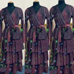 Платья - Бархатное платье блестящее , 0