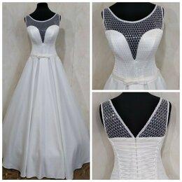 Платья - Атласное свадебное платье Августина размер от 40…, 0