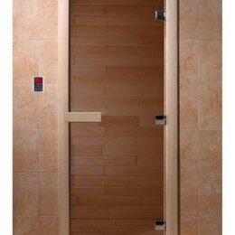 """Окна - Дверь для сауны DoorWood """"Теплый день"""" 190х70 (бронза, коробка Осина, 3 петли), 0"""