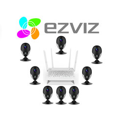 Камеры видеонаблюдения - Комплект на 8камер ezviz С2С(Full HD) +Vault Plus, 0