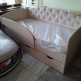 Кроватки - Кровать Алиса с мягкой спинкой Ваниль, 0