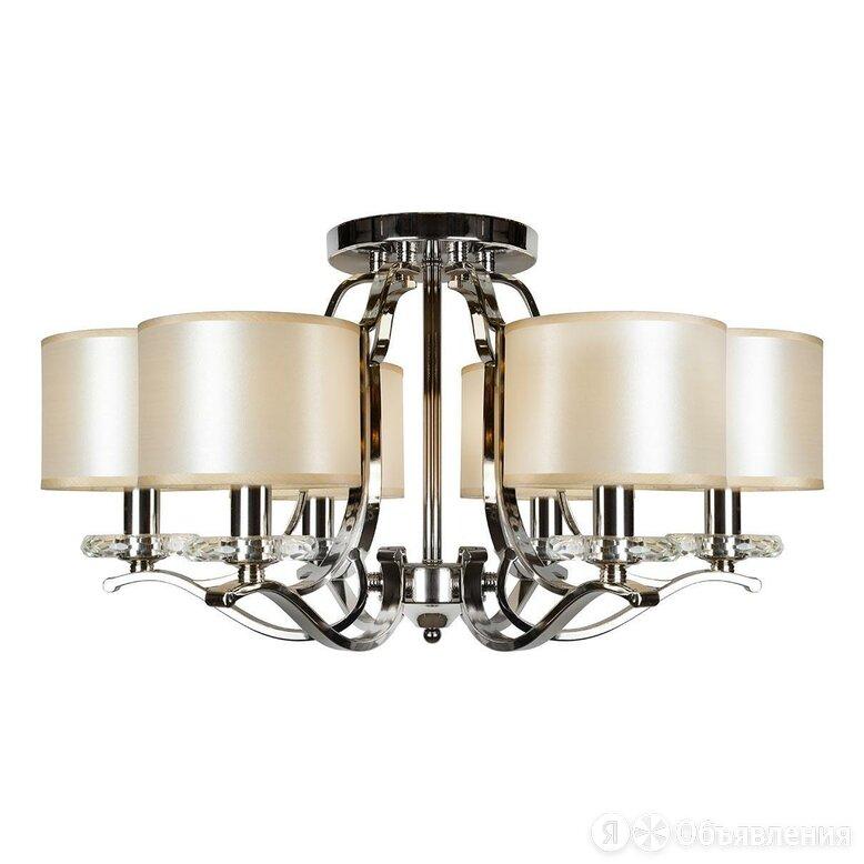 Люстра потолочная с абажурами белая London 88389/6 CR по цене 42790₽ - Люстры и потолочные светильники, фото 0