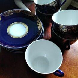 Посуда - Чайная пара ЛФЗ кобальт с позолотой, 0