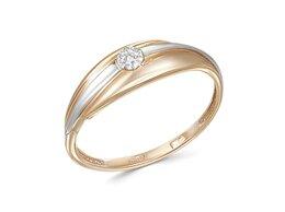 Кольца и перстни - Кольцо с 7 фианитами из красного золота, 0