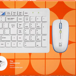 Комплекты клавиатур и мышей - Беспроводной набор Defender Skyline 895 Nano, 0