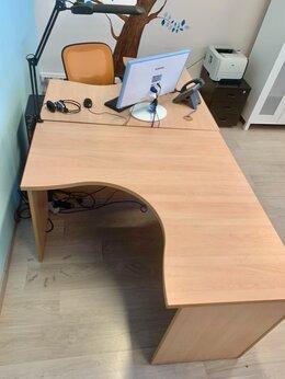 Мебель для учреждений - Стол офисный эргономичный угловой 120х120 бук 50шт, 0