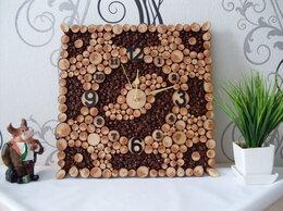 Часы настенные - Часы настенные кофе и спилы дерева, 0