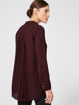 Блузки и кофточки - Блузка гофре S.Oliver Германия бордовая черная с…, 0
