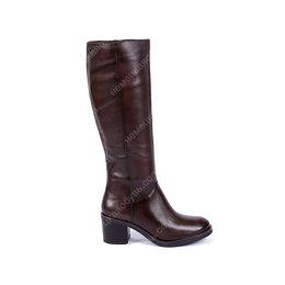 Сапоги - Сапоги коричневые кожаные женские демисезон, 0