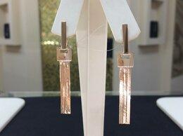Серьги - Золотые серьги цепи °•★ Длинные без камней, 585°, 0