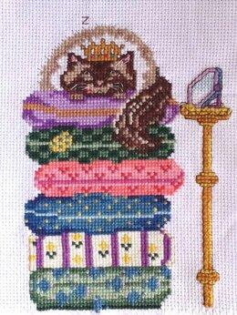 """Картины, постеры, гобелены, панно - Картина """"Кошка на горошине"""" (вышивка handmade), 0"""