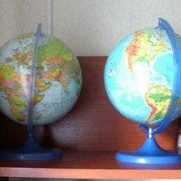Глобусы - Глобусы - ландшафтный и политический, 0