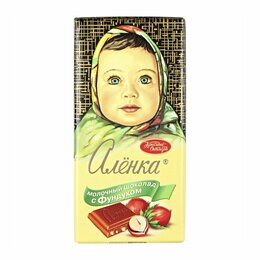 Продукты - Шоколад Аленка С фундуком молочный 90 г, 0