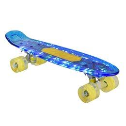 Скейтборды и лонгборды - Скейтборд Navigator синий, пластиковые светящиеся колеса арт.Т20013, 0