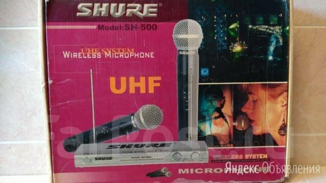 """Радио микрофоны """"SHURE UHF"""" 2 шт. и база к ним по цене 10000₽ - Аксессуары и комплектующие, фото 0"""