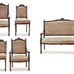 Диваны и кушетки - Салон мягкой мебели в духе классицизма: диван, пара стульев, пара кресел., 0