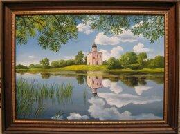 Картины, постеры, гобелены, панно - Церковь Покрова на Нерли. 50х70см, 0