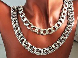 Цепи - Цепи серебро панцирная, Бисмарк 60-65см,…, 0